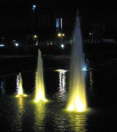 Плавающие фонтаны, Донбасс-Арена, г. Донецк