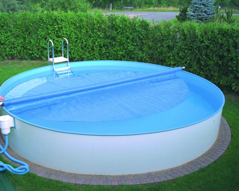, Как сделать сматывающее теплосберегающую пленку на бассейне устройство для круглых и овальных бассейнов?