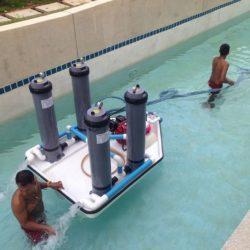 , Передвижной мобильный песочный фильтр для бассейна